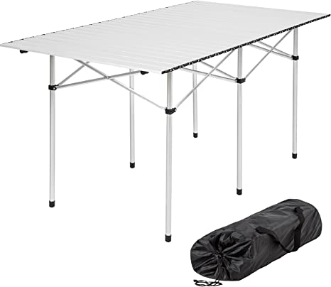 TecTake Mesa Plegable de Aluminio portátil Camping terraza jardín ...