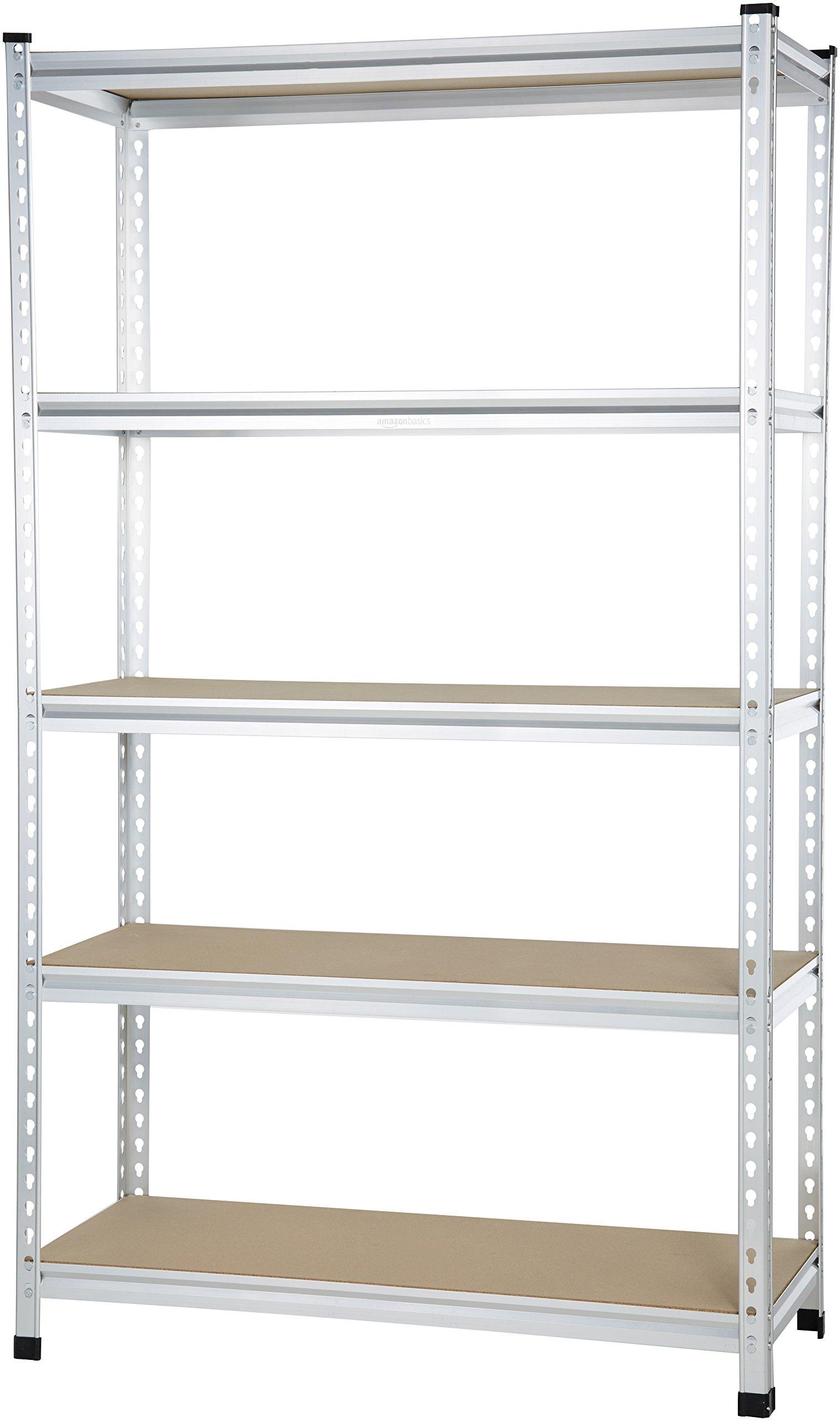 AmazonBasics Medium Duty Shelving Single-Post Press Board Shelf - 48 x 18 x 72