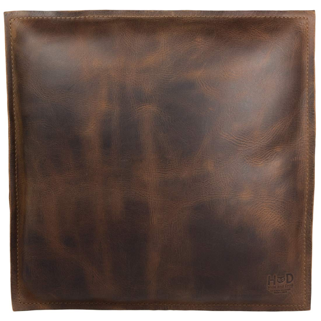 Hide & Drink, Leather Decorative Pillow 12 x 12 in. / Couch, Sofa or Bed/Stylish/Leather Decoration/Home & Office Decor, Handmade :: Bourbon Brown by Hide & Drink