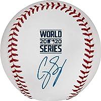 $249 » Corey Seager Los Angeles Dodgers Autographed 2020 MLB World Series Champions Logo Baseball - Autographed Baseballs