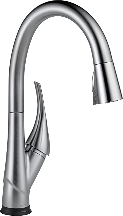 Delta Faucet Esque Single-Handle Touch Kitchen Sink Faucet with Pull Down  Sprayer, Touch2O and ShieldSpray Technology, Magnetic Docking Spray Head,  ...