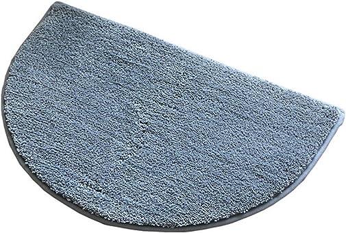 ZebraSmile Semicircle Bath Room Rug Home Entrance Doorway Mat Door Mat Entry Doormat Entryway Half Moon Carpet for Bedroom Indoor Halfmoon Mat Non Slip Back 19.5 X 31.5IN