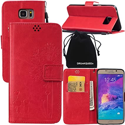 d6f3423ed62304 Amazon.com: DRUnKQUEEn Note 5 Case, Galaxy Note5 Case, Wallet Case with  Cellphone Holder - PU Leather Cover Purse Slim Fit Card Slot for Samsung  Galaxy ...