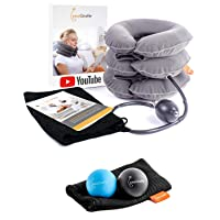 easyGiraffe Cervical Neck Traction Device - Inflatable Neck Traction & Neck Stretcher...