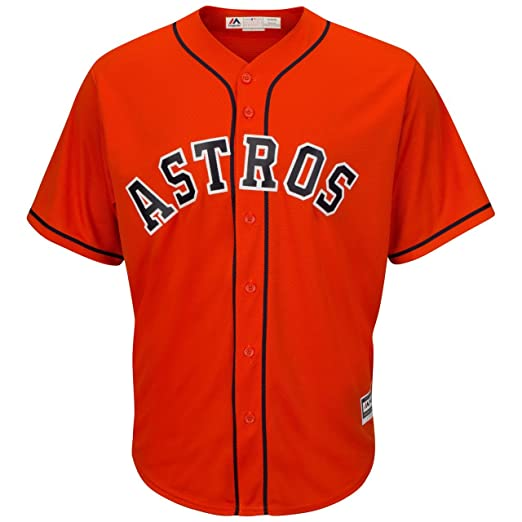 c96645d244a Image Unavailable. Image not available for. Color  Majestic Houston Astros  Alternate Orange Cool Base Men s Jersey (Small)