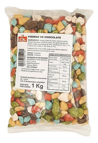 Importaco Itac - Piedras de Chocolate 1kg: Amazon.es: Alimentación y bebidas
