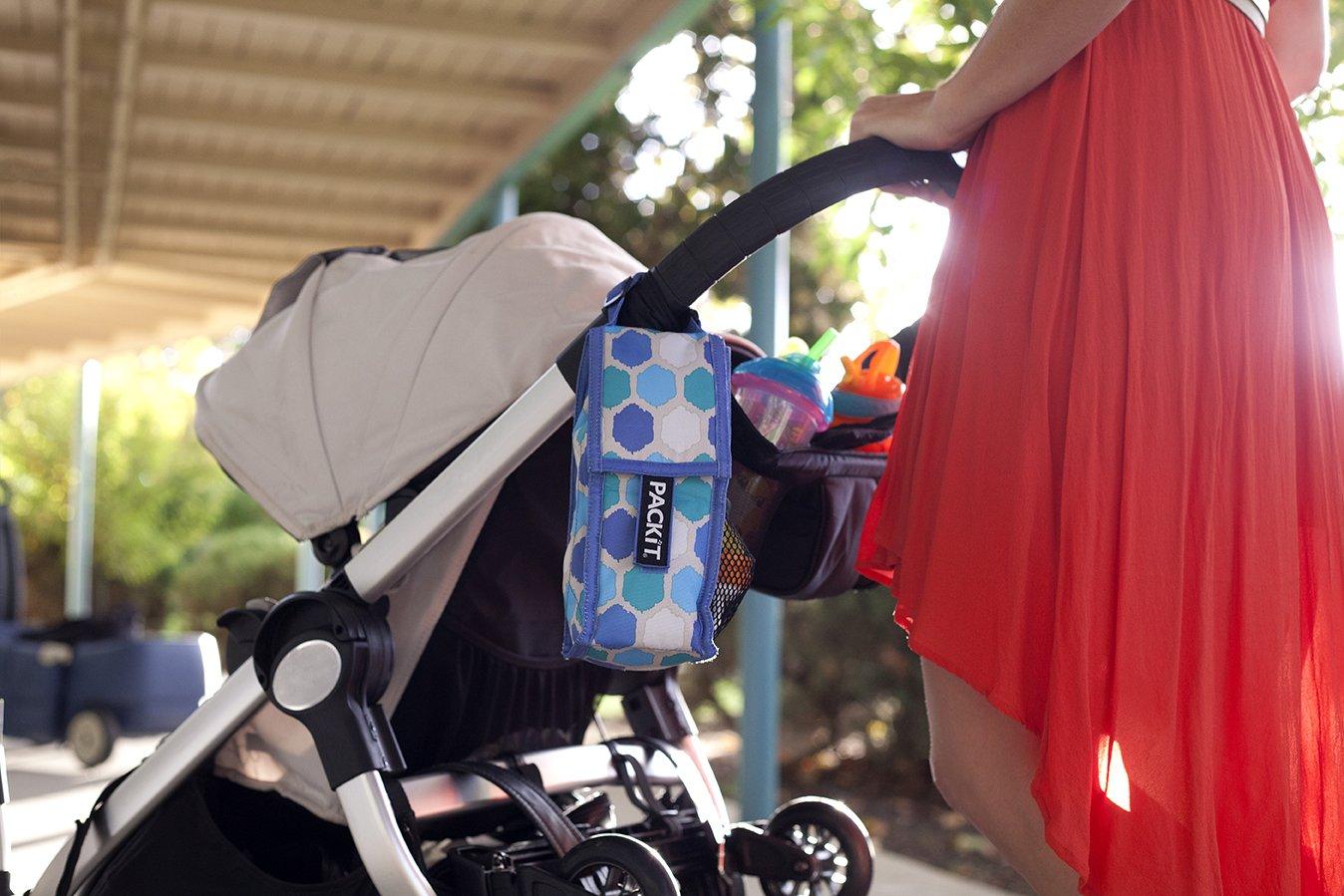PkIt Double Baby Bottle Bag - Floral