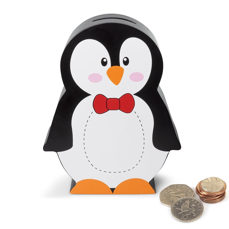 Penguin Wooden Money Box