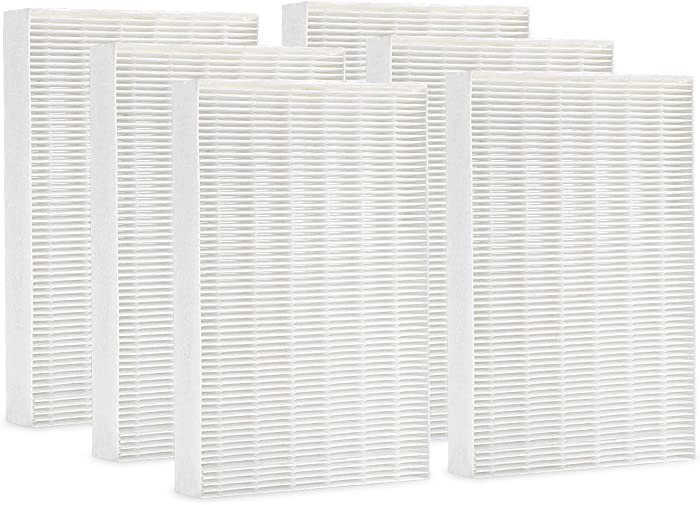 Cabiclean True HEPA Replacement Filter Compatible Honeywell HPA300, HPA200, HPA100, HPA090 Series Air Purifier. Filter R (HRF-R3 & HRF-R2 & HRF-R1, 6 Pack)