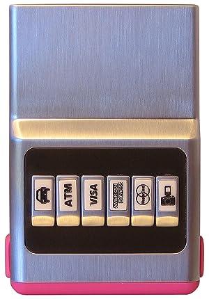 ACM Customizable Wallet Pink Hybrid Unisex 6 Card Organizer Synthetic