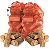 The Log HUT® 20KG Quality Hardwood ASH Kiln Dried Wooden Logs - Coal Alternative Fuel for Hotter Burning Fires. Firepits. Firewood Moisture Reduced to Only 20% - Comes with The Log HUT® Woven Sack.