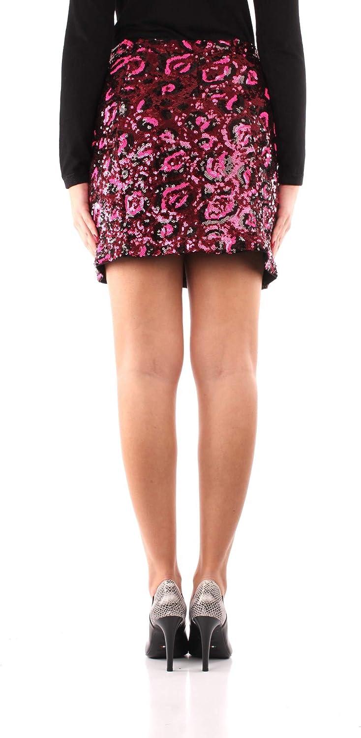Guess - Falda con lentejuelas para mujer, color fucsia leopardo ...