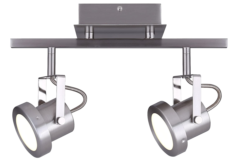 CANARM LTD. IT356A02BPT10 James 電球2個用 トラック照明 2 Light - LED B01N7XUYXC 2 Light - LED|つや消しニッケル つや消しニッケル 2 Light - LED