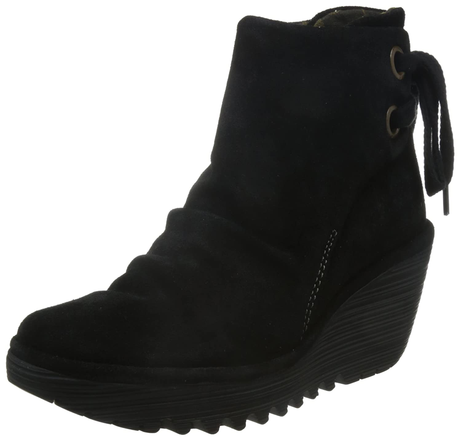 FLY London Women's Yama Ankle Boot B007UP8VC2 36 EU/5.5-6 M US|Black Oiled