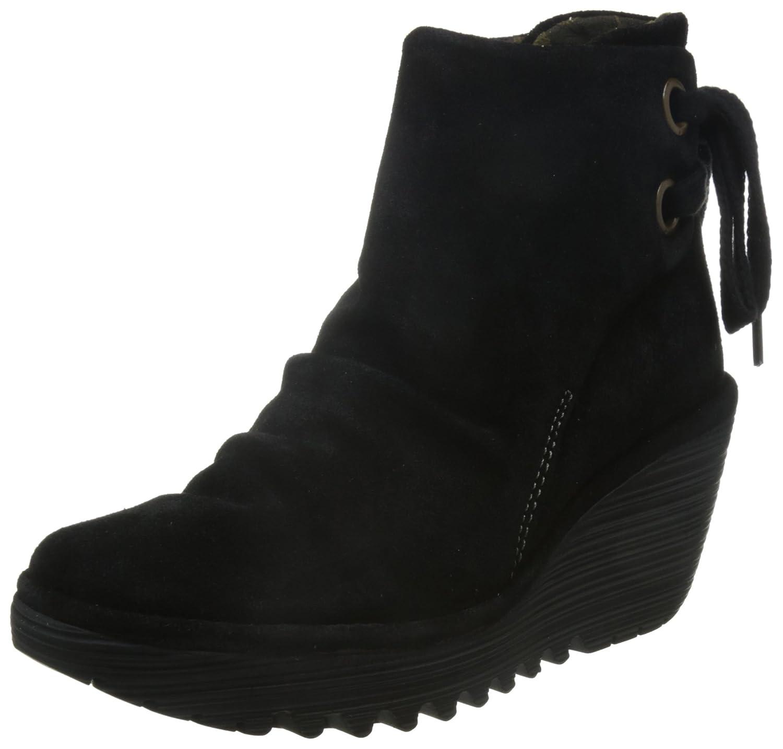 FLY London Women's Yama Ankle Boot B0093TGLZC 42 M EU / 11-11.5 B(M) US|Black Oiled