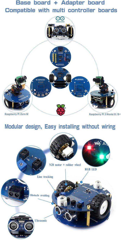 no Pi Waveshare AlphaBot2 Pi Zero Acce Pack Robot Building kit for Raspberry Pi Zero//Zero W ,Bluetooth//Infrared//WiFi Remote Control Video Monitoring