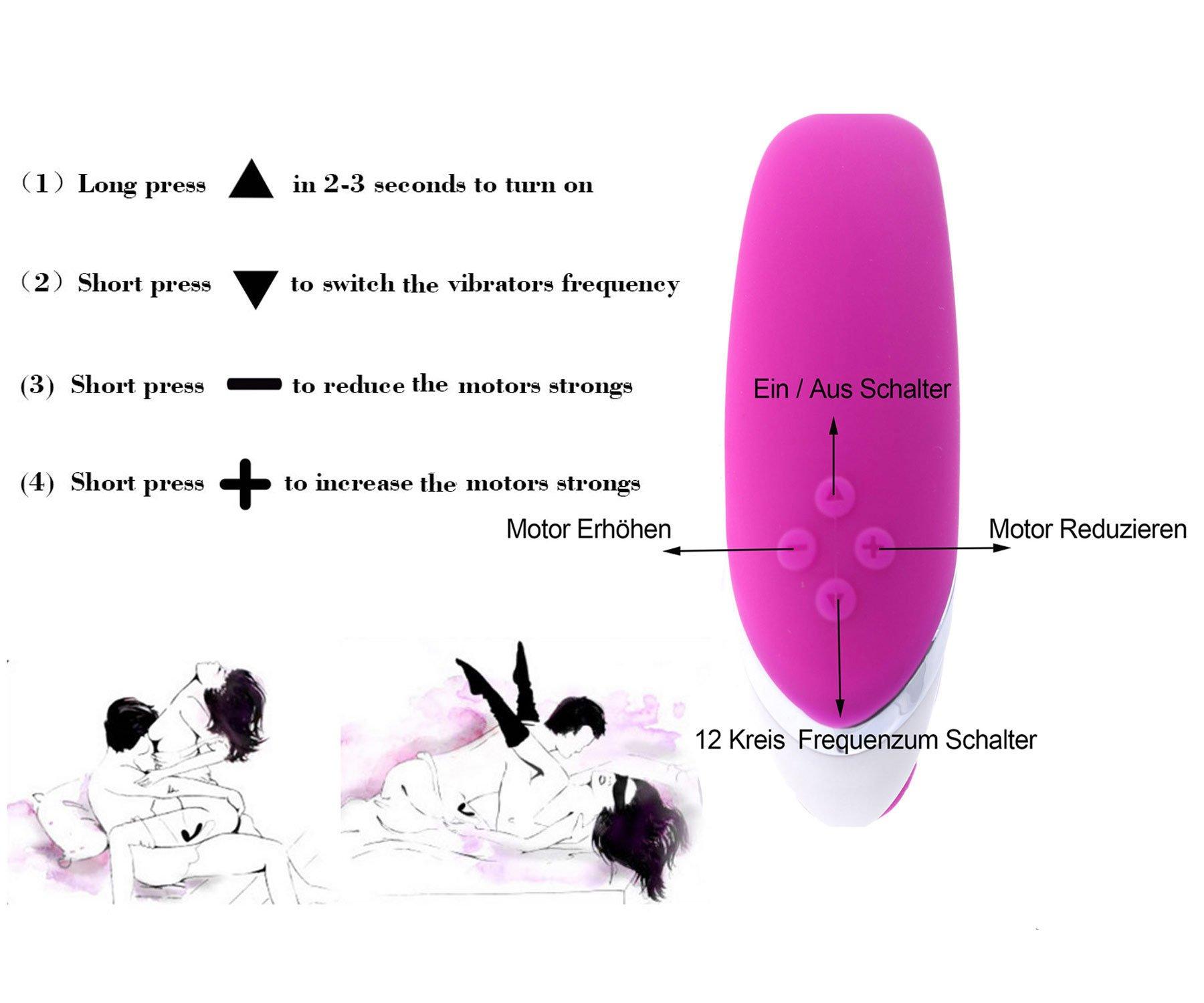 Himall Silikon G Punkt Paar Vibrator für Klitoris Stimulation Massage Orgasm,Wiederaufladbar