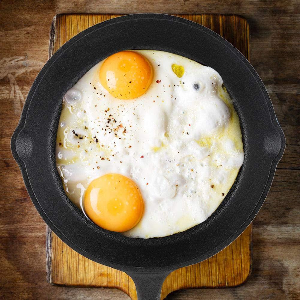Fry Pan/Frying pan Cookware Set, 3pcs/Set 16cm 20cm 25cm Cast Iron Frying Pans Cookware Pots Household Kitchen Cooking Tool by Yosooo (Image #6)