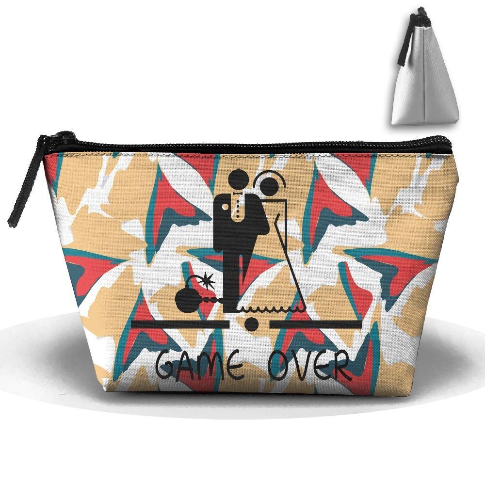 Game Over Wedding Cosmetic Waterproof Storage Bags.