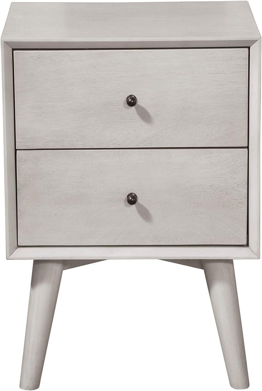 Alpine Furniture Flynn Nightstand, Gray