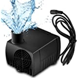 Suntop Mini DC 12V 5W Micro Brushless Water Oil Pump 500L/H Head Lift 350cm Waterproof Submersible Fountain Aquarium Circulating for Pet Fountains, Aquarium, Pond, Fish Tank, Statuary