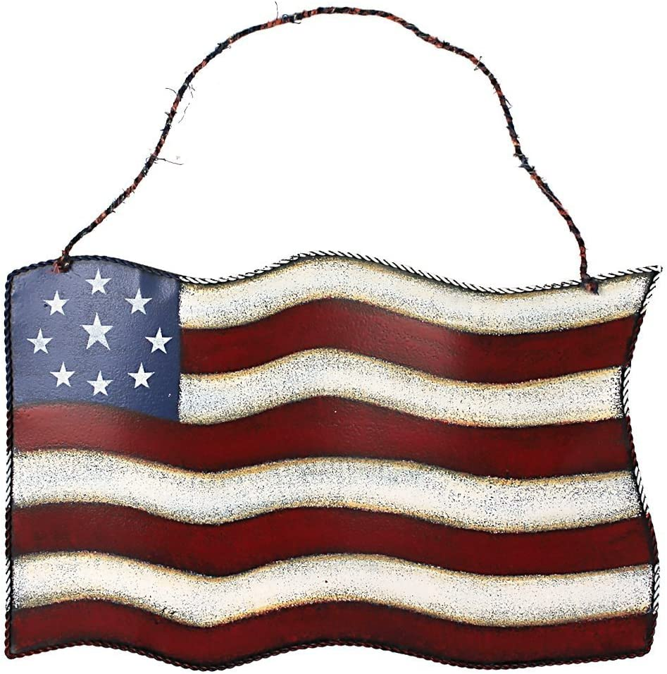 American Barn Star, Metal Patriotic Old Glory Americana Flag Barn Star Wall Decor for July of 4th Independence Day (American Flag)