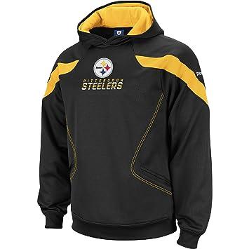 Reebok Pittsburgh Steelers Big   Tall Sideline Kickoff Hooded Sweatshirt  XXX Large 1c68f9163