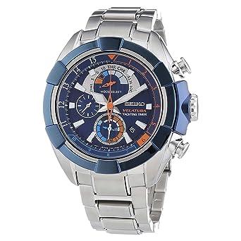 545a34ff993 Orologi Seiko Velatura Spc143p1 Uomo Blu  Amazon.it  Orologi