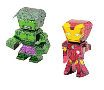 Metal Earth Fascinations Marvel Avengers Hulk y Iron Man ...