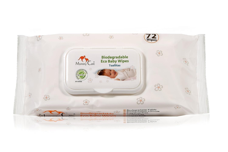 Toallitas para Bebé Biodegradable Eco Baby Wipes de Mommy Care. Sin SLS y sin parabenos Fórmula Natural Suavemente Perfumada, Ideal para la Piel Sensible ...