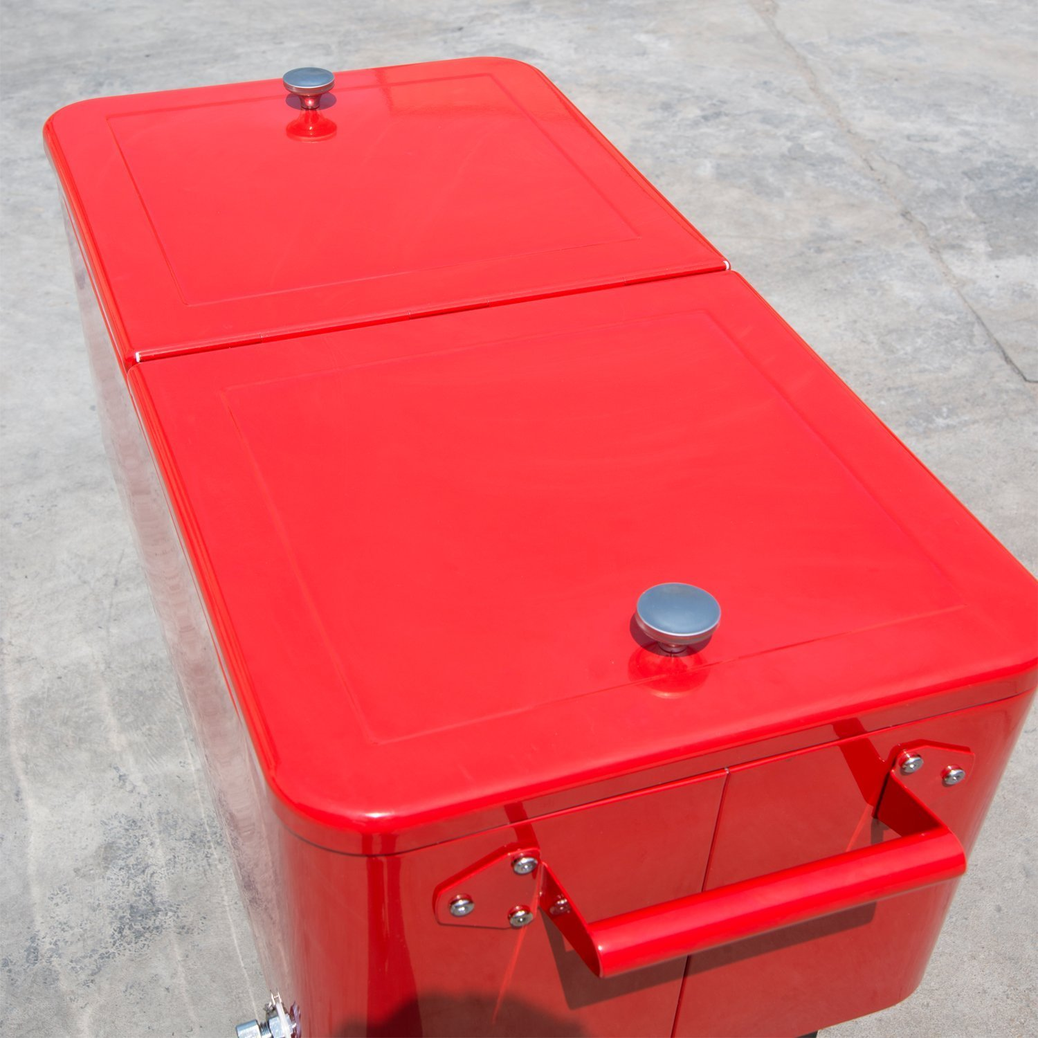 Amazon.com : Outsunny 80 QT Rolling Ice Chest Portable Patio Party Drink  Cooler Cart - Red : Patio, Lawn & Garden - Amazon.com : Outsunny 80 QT Rolling Ice Chest Portable Patio Party