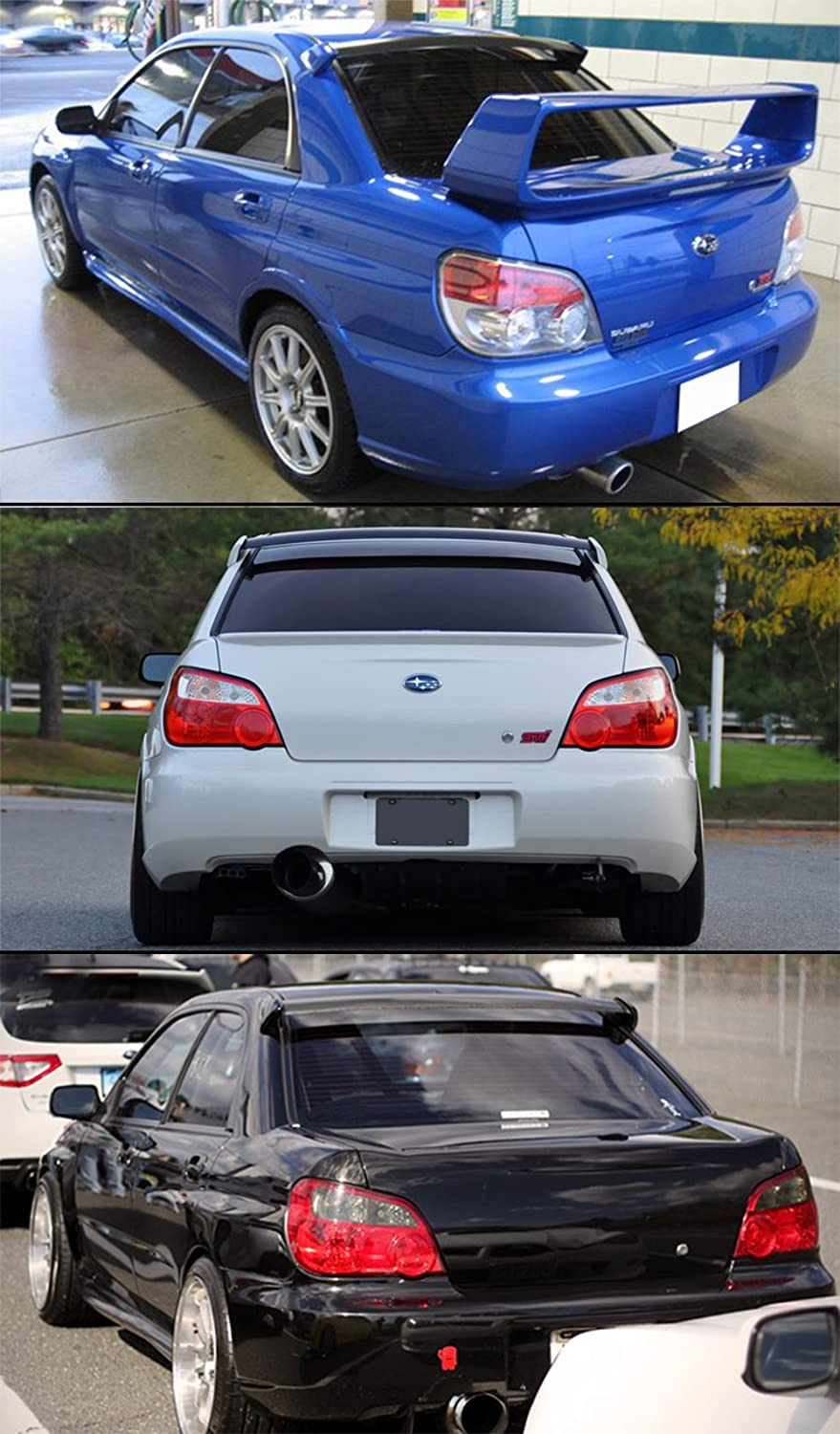 Spoilers, Wings & Styling Kits Cuztom Tuning Painted Glossy Black ...