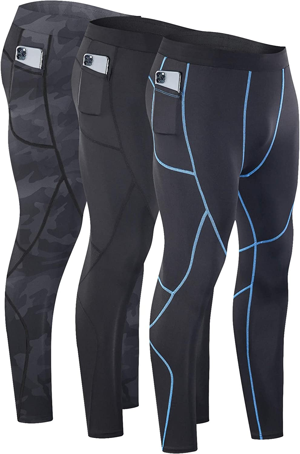 Mens Compression Leggings Dry Cool Sports Pants Base layer Running Cool Dry Slim
