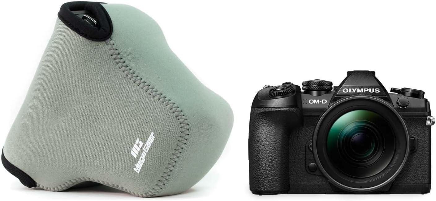 MegaGear Ultra Light Neoprene Camera Case compatible with Olympus OM-D E-M1 Mark II 12-40mm