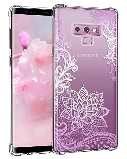purchase cheap 69e1a fcb80 Casetego Compatible Galaxy Note 9 Case,Clear Soft Flexible TPU Case Rubber  Silicone Skin with Flowers Floral Printed Back Cover for Samsung Galaxy ...