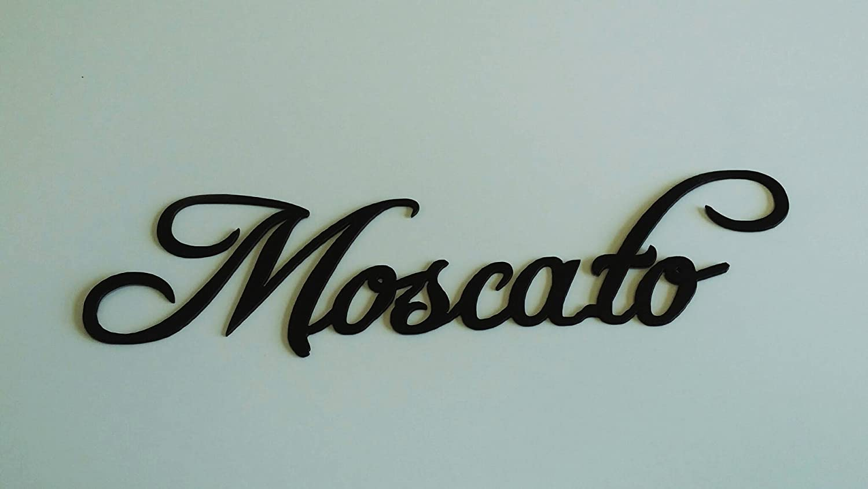 Amazon.com: Moscato Wine Word Metal Wall Art Home Kitchen Decor ...