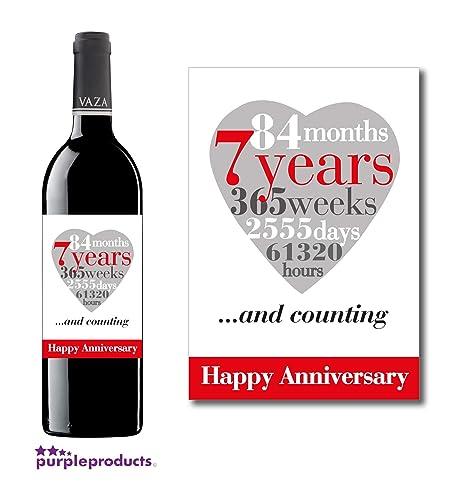 Anniversario Di Matrimonio 7 Anni.Purpleproducts Anniversario Di Matrimonio 7 Anni Wine Label