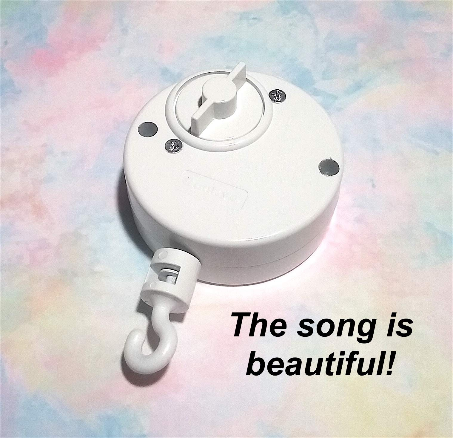 Beauty and The Beast Crib Mobile Music Box – – – in White – – – Baby Crib Mobile – – – Baby Mobile Movement – – – Turn Mobile – – – Great Song – – – Great Quality