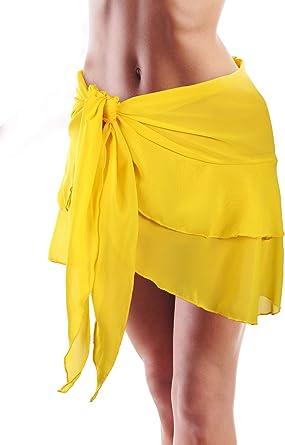 Pareo de Playa de Gasa de Natación de Mujeres Cubierta Falda de ...