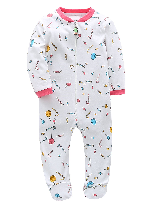 Baby Boys Girls Footed Pajama 100/% Cotton Zip Front Sleep and Play Sleeper