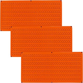 product image for Wall Control Pegboard Value Pack - (3) Pack of Wall Control 16-Inch Tall x 32-Inch Wide Horizontal Orange Metal Pegboards for Wall Home & Garage Tool Storage Organization (Orange Pegboard)
