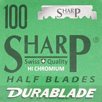 Sharp Hi-Chromium Stainless Straight Edge Barber Razor Blades for  Professional Barber Razors, 100 Blades