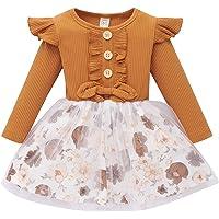 Newborn Baby Girls Pink Striped Tutu Dress First Birthday Skirt Outfits Casual Donut Print Girls Clothes Headband 2Pcs…