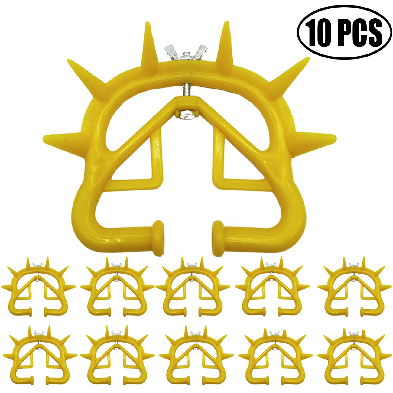 TIHOOD 10PCS Plastic Calf Cow Cattle Nose Ring Weaning Weaner Anti Sucking Milking Stop Farm Products Yellow by TIHOOD