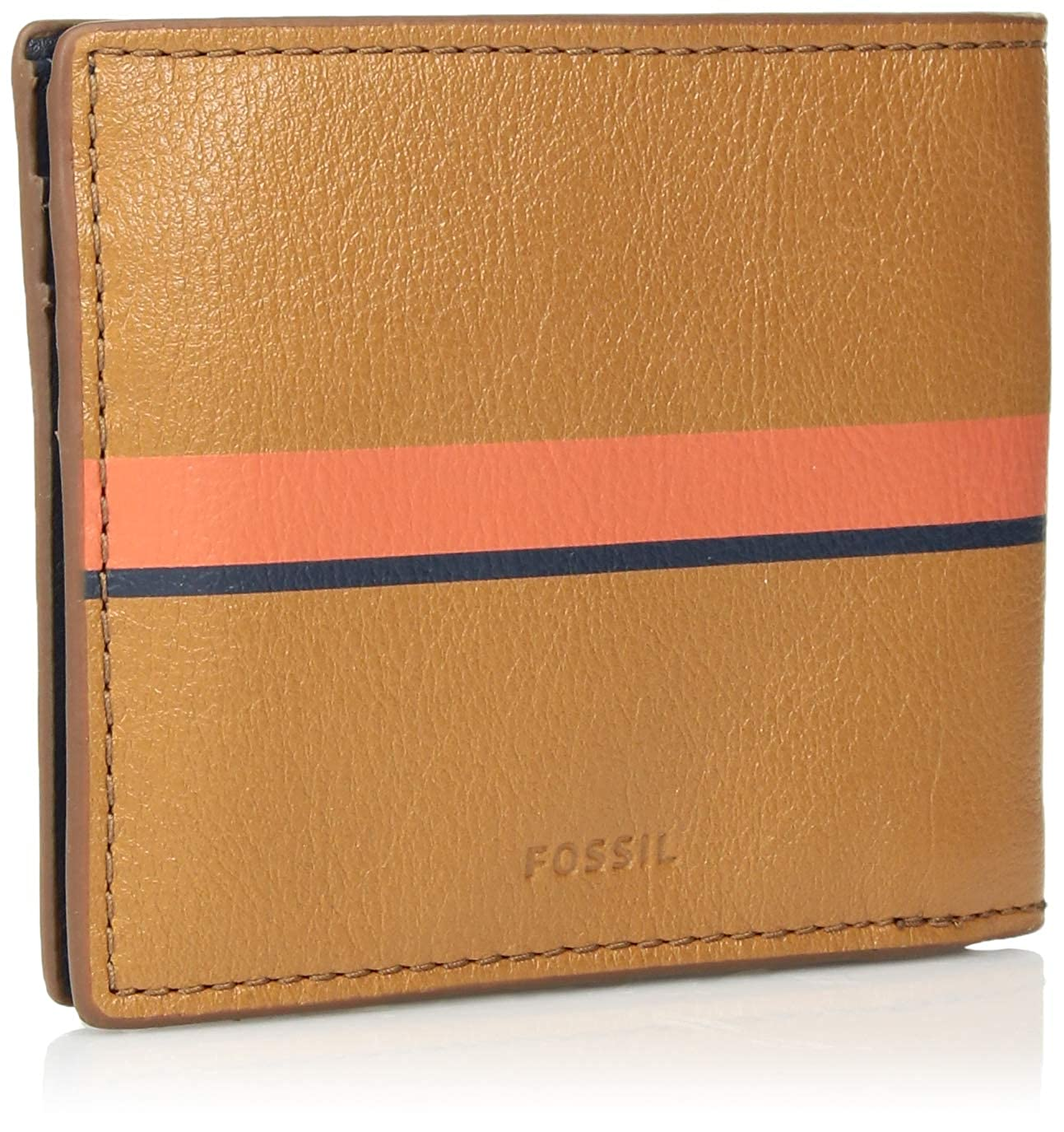 Fossil Mens Fairman Leather Bifold Flip ID Wallet
