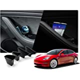 Tesla Model 3 ドアポケット 収納 ボックス トレイ 運転席 助手席 車種専用設計 パーツ LFOTPP (4個セット)