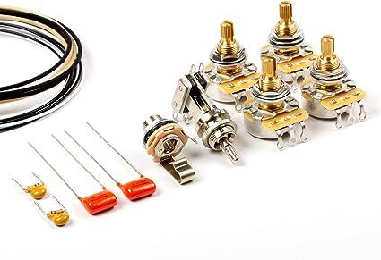 gibson 335 guitar wiring diagrams amazon com toneshaper guitar wiring kit  for es 335 musical  toneshaper guitar wiring kit