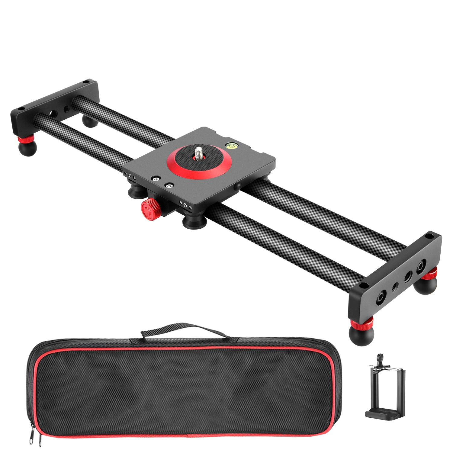 Neewer Camera Slider Carbon Fiber Dolly Rail, 16 inches/40..