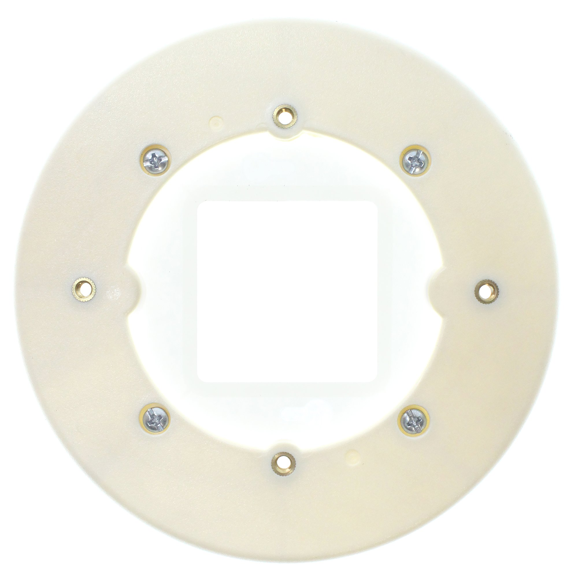 Wiremold Legrand 2337A Round Extension Box, Open Base, Ivory