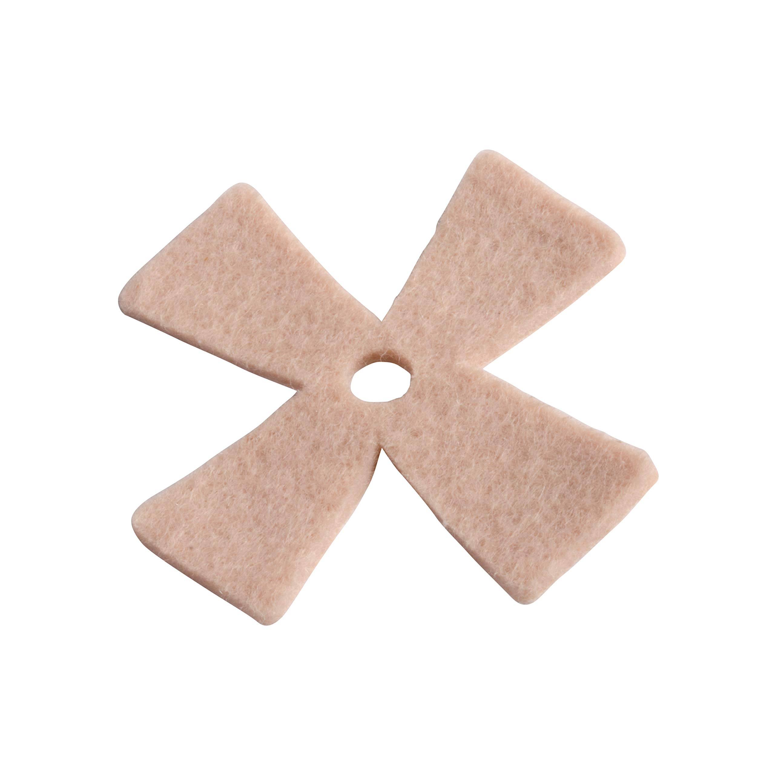 Steins 1/16 Inch Distal Star Adhesive Felt Pads, 100 Count